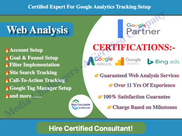 Google Analytics Setup freelancer