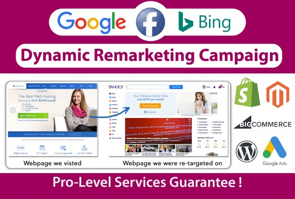 Google / Facebook / Bing Remarketing Campaign Setup