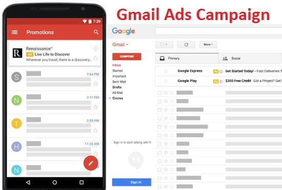 Hire a GMail Ads Setup and Optimization Specialist / Freelancer